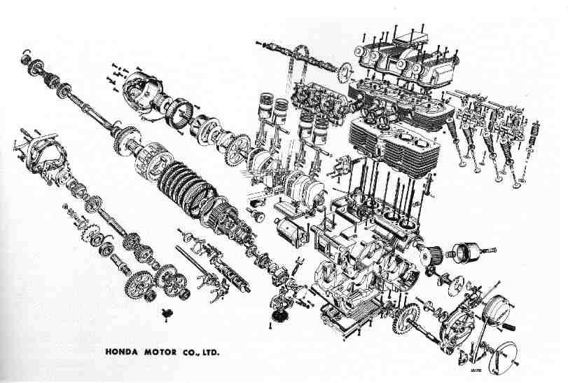 exploded view k2  and lower  engine